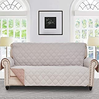 RHF Diamond Sofa Cover, Couch Cover, Couch Covers for 3 Cushion Couch, Couch Covers for Sofa, Sofa Covers for Living Room, Couch Covers for Dogs, Couch Protector(Sofa:Light Beige/Latte)