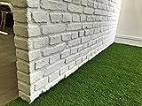 Faux Stone Panels 3D Vintage Brick Wall Panels Stone Tile Faux Textured Stone Look Wall Panels Home Decor (V00B, Matte White)