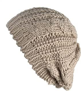 Women Winter Warm Ski Knitted Crochet Baggy Skullies Cap Beret Hat