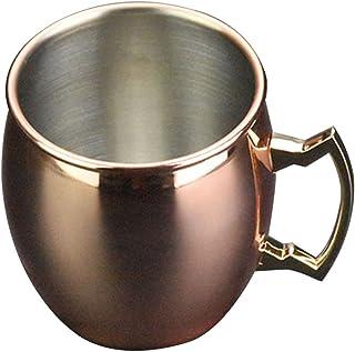 モスクワミュールマグカップ カクテルドリンクカップ ビール アイスコーヒー アイスティー 混合飲料 冷たく保つ 贈り物 銅植付ハンドル エレガント 360ml