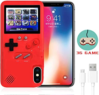 LucBuy Gameboy Case for iPhone, Retro Protective Cover Self-Powered Case with 36 Small Game,Full Color Display,Shockproof Video Game Case for iPhoneX/Xs/MAX/Xr/6/7/8Plus/11