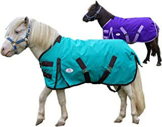 Derby Originals Extreme Elements Series Mini Horse and Pony 1200D Ripstop Waterproof Nylon Winter Turnout Blanket with 300g Polyfil Insulation - Two Year Limited Manufacturer's Warranty