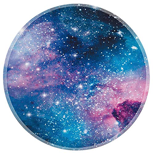 Mouse Pad Galdas Mousepad Round Gaming Mouse Pad Rubber Base Cloth Mouse Pads for Computers Laptop (Updated Version) … … (Starry Sky)