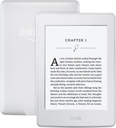 """Kindle Paperwhite E-reader (Previous Generation - 7th) - White, 6"""" High-Resolution Display (300 ppi) with Built-in Light, Wi-Fi - Includes Special Offers"""