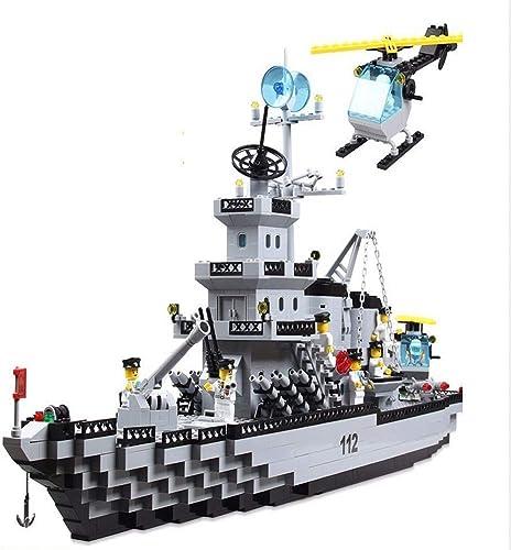 punto de venta Yyz Bloques de construcción de la Serie Serie Serie Militar Pequeñas partículas ensambladas portaaviones Modelo de Barco de Crucero de Juguete para Niños  mas preferencial