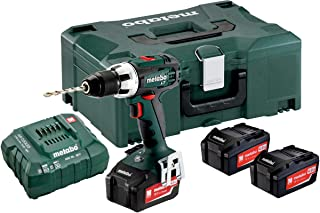 Metabo BS 18 LT Set Cordless Drill, Driver 3, Li-Power Battery Packs, 18 V / 4.0 Ah, 1 Piece, 602102960