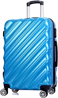 "SRY-Luggage PC Convenient Trolley Case, Personalized Twill Luggage, Wheeled Travel Rolling Boarding, 20"" 24"" Inches Durable Carry on Luggage (Color : Blue, Size : 20inch)"