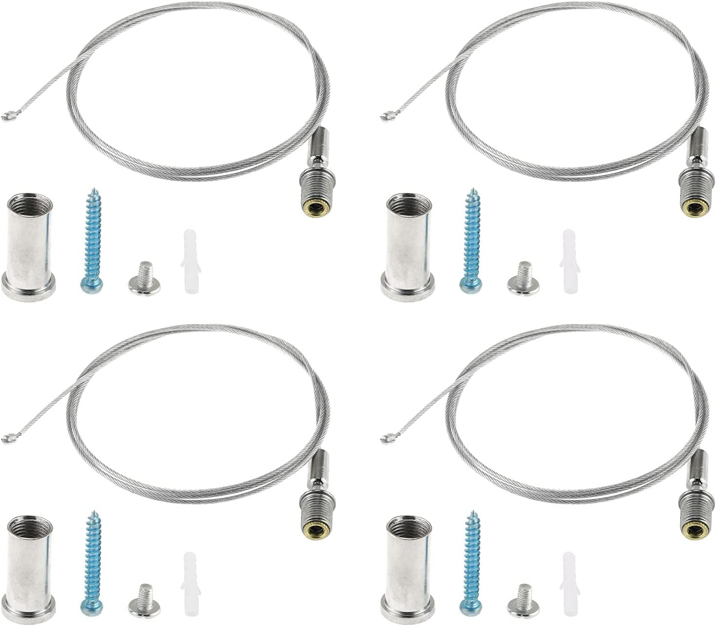 E-outstanding 4Pcs 1 Meter Lighting Kit Suspension Suspens Cable SEAL limited product Baltimore Mall