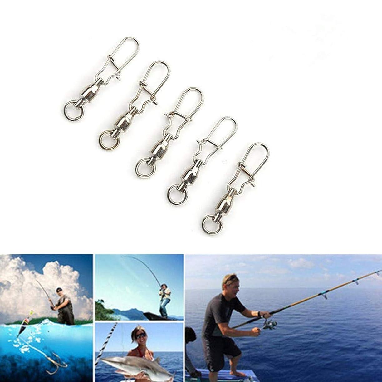 ジョージスティーブンソン危機芸術的高強度 ステンレス スイベル スナップ ベアリング トローリング スナップ 耐腐食 ボールベアリングスイベル 船釣り 海釣り 釣り小物 釣り道具 仕掛け 25個
