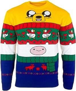 Adventure Time Ugly Christmas Sweater Finn & Jake for Men Women Boys and Girls - 2XL