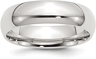 Solid 925 Sterling Silver 6mm Comfort Fit Wedding Band