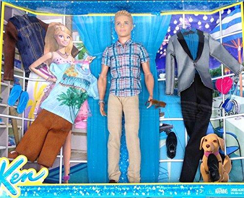 Barbies Ken Exclusive Doll & California Fashion Pack Set