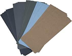 Jcevium Nat droog schuurpapier Het schuurmiddel 20 stuks, 1000/2000/3000/5000/7000 schuurpapier bedekt samen positie voor ...