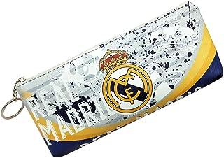 Football Team Students Pencil Bag Pen Case Receipt Bag Stationery Bag Zipper Bag (Real Madrid)
