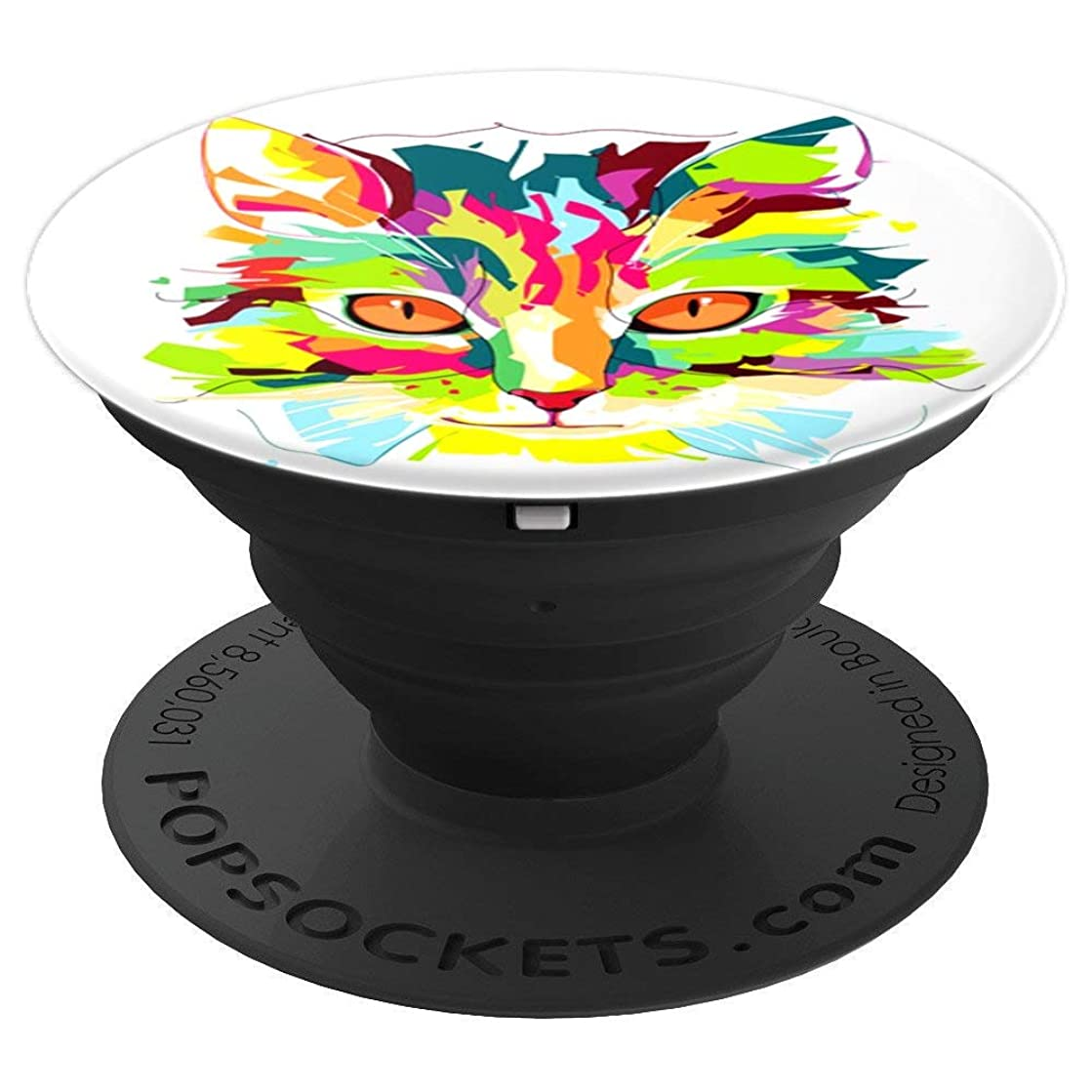 Pretty And Cute Cat love funny Smiling Caticorn gift - PopSockets Grip and Stand for Phones and Tablets
