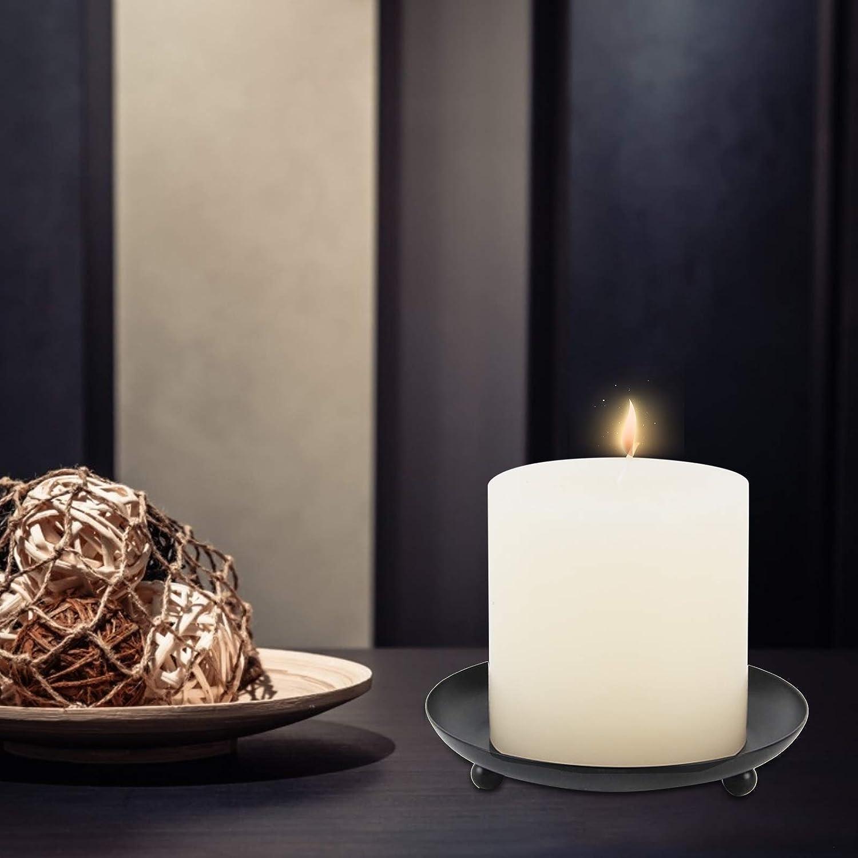 lijun Candeliere Rotondo in Ferro battuto in Stile Nordico con Decorazione da Tavolo