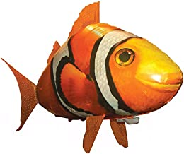 BBLAC 2KEY Air Flying Fish, Flying Shark Clownfish Toy, Control Remoto Air Swimmers RC Fish Toy Kits-Inflables Toy (Amarillo)