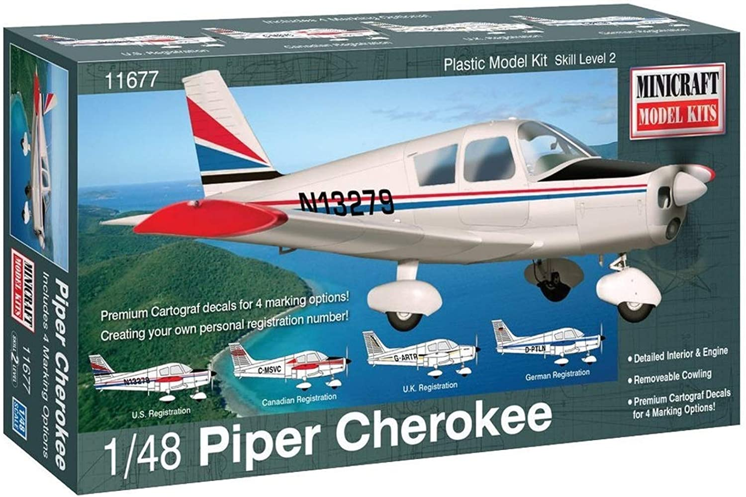 Minicraft Piper Cherokee Airplane Model Kit (1 48 Scale)