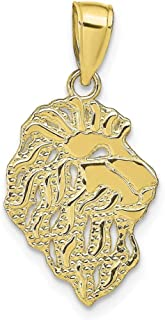 Qualit/é sup/érieure /à lor 9 carats Pendentif en or jaune 10 carats unisexe en forme de p/épite R Mesure 20,5 x 11,20 mm