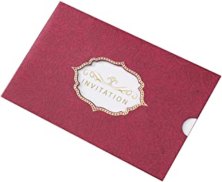 25 Pack Formal Invitation Cards for Birthday Dinner Party Business Greeting Cards, Red