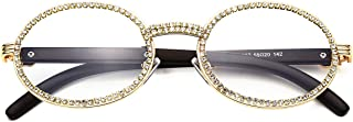 Oval Retro Round Diamond Sunglasses for Men,Women Luxury...