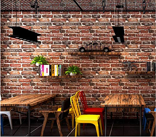 ZSHBD Papel Pintado Pared Azulejos de pared vintage Papel Tapiz de Impermeable Muebles Pegatinas para Muebles Puertas de Armario Encimera Cocina 0.53m x 10m