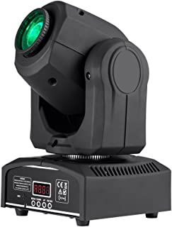 Monoprice Stage Beam 30 Watt LED Moving Head Light with 7 Colors and Gobos plus Open