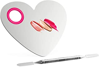 Luxspire Professional Makeup Palette Stainless Steel Heart Cosmetics Foundation Nail-art Mixing Blending Make up Tools wit...