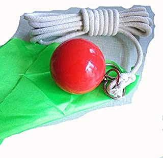 Suzakoo Exercise Ball Fitness Equipment Accessories Rubber Meteor Hammer with Rope Soft Fitness