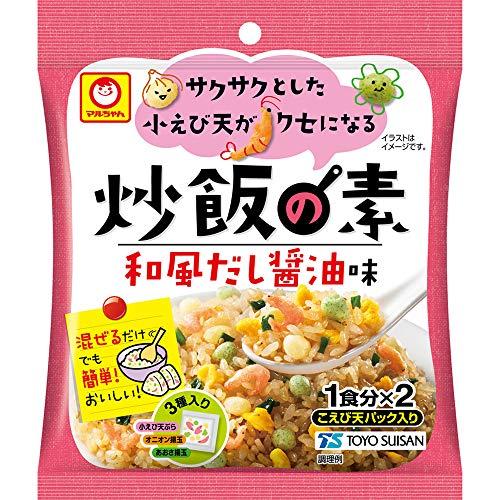 マルちゃん サクサクとした小えび天がクセになる炒飯の素 和風だし醤油味 24.2g(12.1g×2P) ×12個