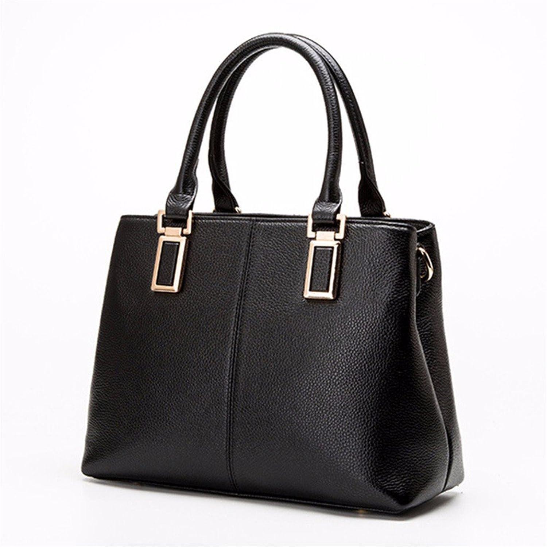 WanJiaherrenhop Handtaschen aus Leder Damen Handtasche Mode Muster Single Schulter Messenger Bag, 29  12  23 cm