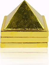 STYLE OK Products Wish Pyramid Metal Pyramid 3 Layer 2 inch in Size with 91 Pyramids for Vastu and Feng Shui Pyramid (Colo...