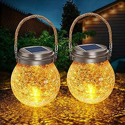 crackle glass ball solar light