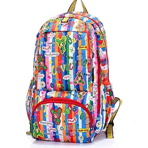 Sincere® Fashion Backpack / Zipper Sacs à dos / Rue mode / Multifonction / Mode schoolbag / loisirs sac à main / polyester sac imperméable à l'eau 7