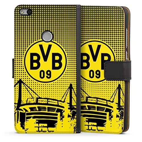 Sideflip compatibel met Huawei P8 Lite 2017 Bookcase Flipcase Stadion BVB Borussia Dortmund
