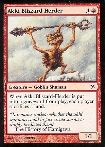 Magic: the Gathering - Akki Blizzard-Herder - Betrayers of Kamigawa
