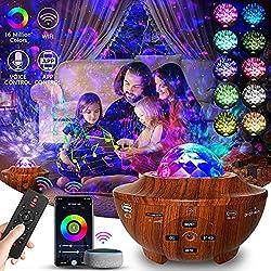 【Starlight + Wave LED Projecteur】:Projecteur Ciel Étoile Utilisez la forme de l'ovni pour éclairer votre voyage dans l'espace.Lampe de projecteur étoiles la projection réaliste d'une nébuleuse dynamique sur le plafond ou le mur. Le Projecteur ciel et...