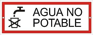 Cartel agua no potable   Aluminio   175 x 65 mm   2 veces perforado   Nr.53312-L
