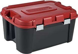 Allibert 229230 Totem professionele transporttas met 4 wielen zwart/rood kunststof 79 x 59,7 x 40,79 cm 140 l