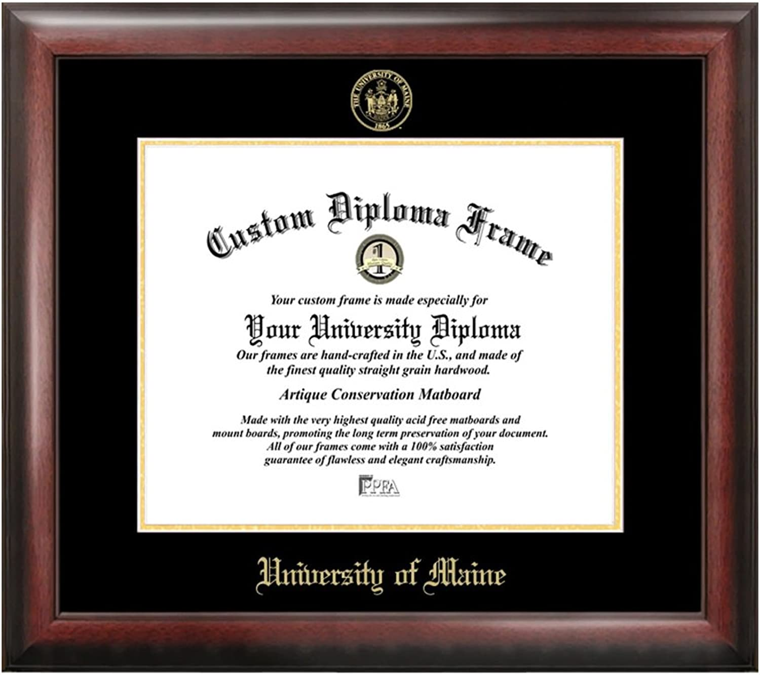 Maine University gold Embossed Diploma Frame
