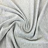 FabricLA Cotton Spandex Jersey Fabric 10 oz - 60' Inch Wide & Stretch Upto 2' Inch - Use Our Soft and Breathable 4 Way Stretch Fabric for T-Shirts, Tops, Lightweight Dresses - Heather Grey, 2 Yards