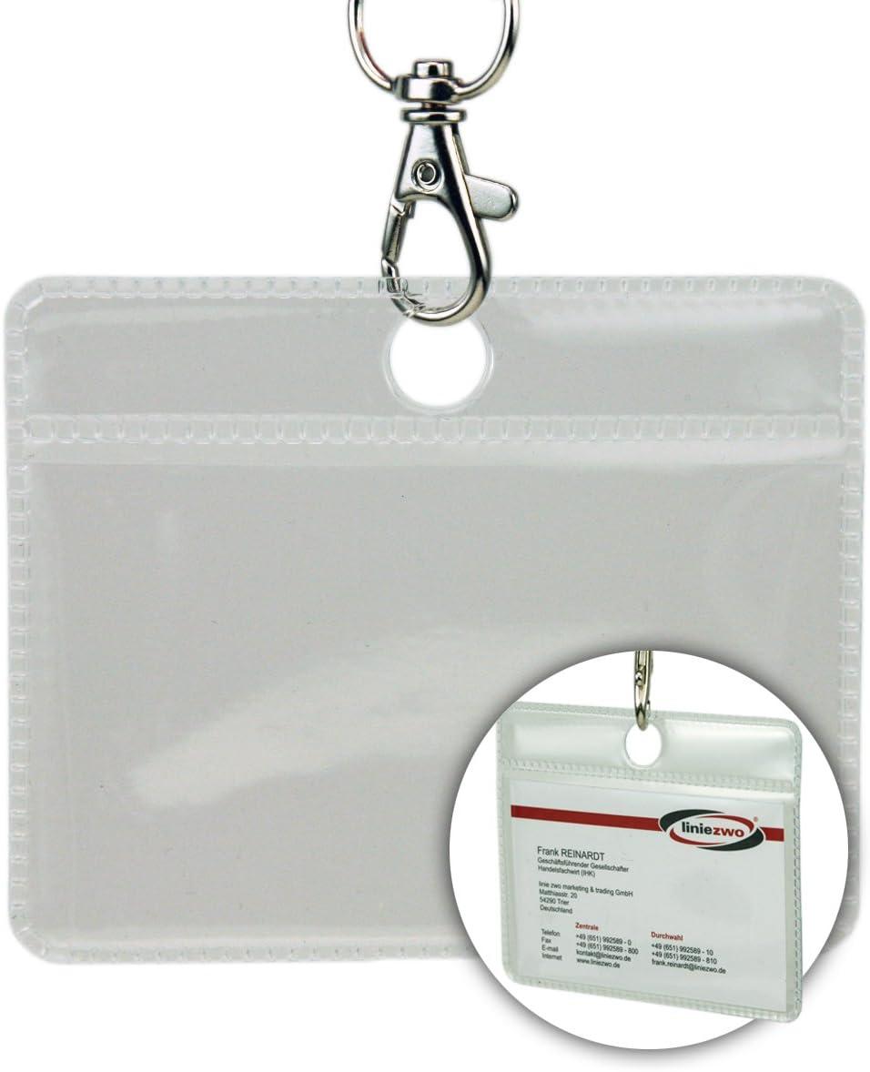 Linie Zwo 10 Stück Ausweishüllen Soft Querformat Für Din A7 Bürobedarf Schreibwaren