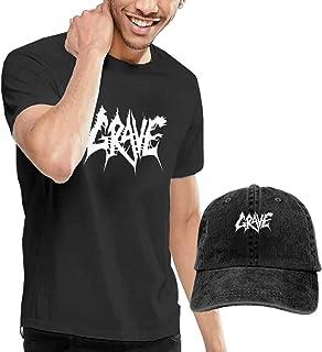 Camiseta de manga corta para hombre con gorra de béisbol