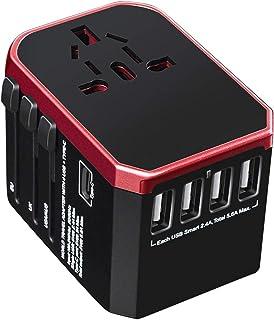 Universal Travel Adapter with 4 Ultra-Fast USB Port and 1 Ultra-Fast USB Type C Port and Power Socket Worldwide Plugs UK E...