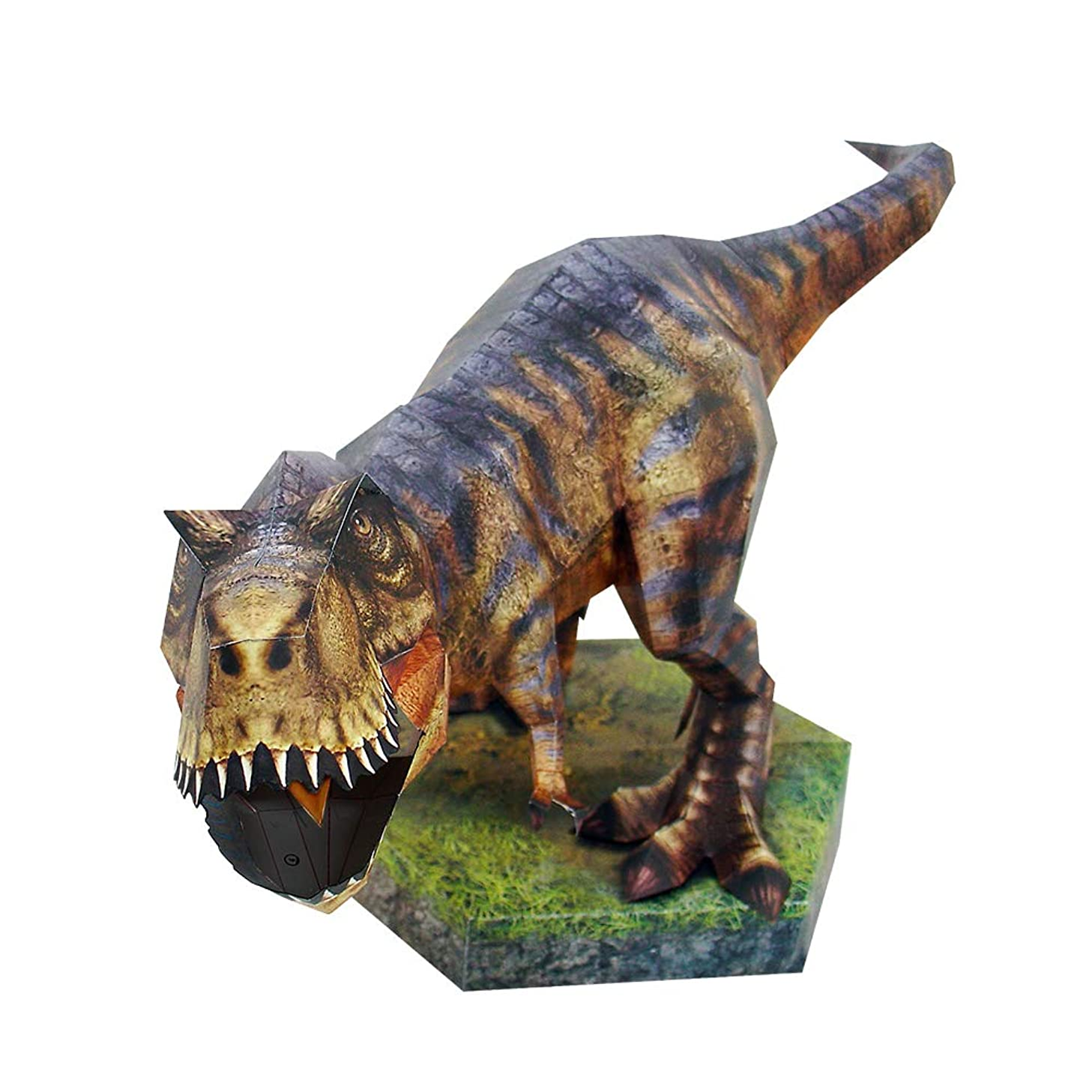 HAPPYPAPER Dinosaur Tyrannosaurs Low Poly DIY Papercraft Puzzle Kit for Adults & Teens - NO Scissors Needed