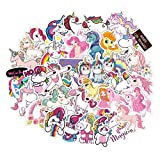 100pcs Cartoon Unicorn My Little Pony for Laptop Stickers Motorcycle Bicycle Skateboard Luggage Decal Graffiti Patches Waterproof Stickers for [No-Duplicate Sticker Pack]