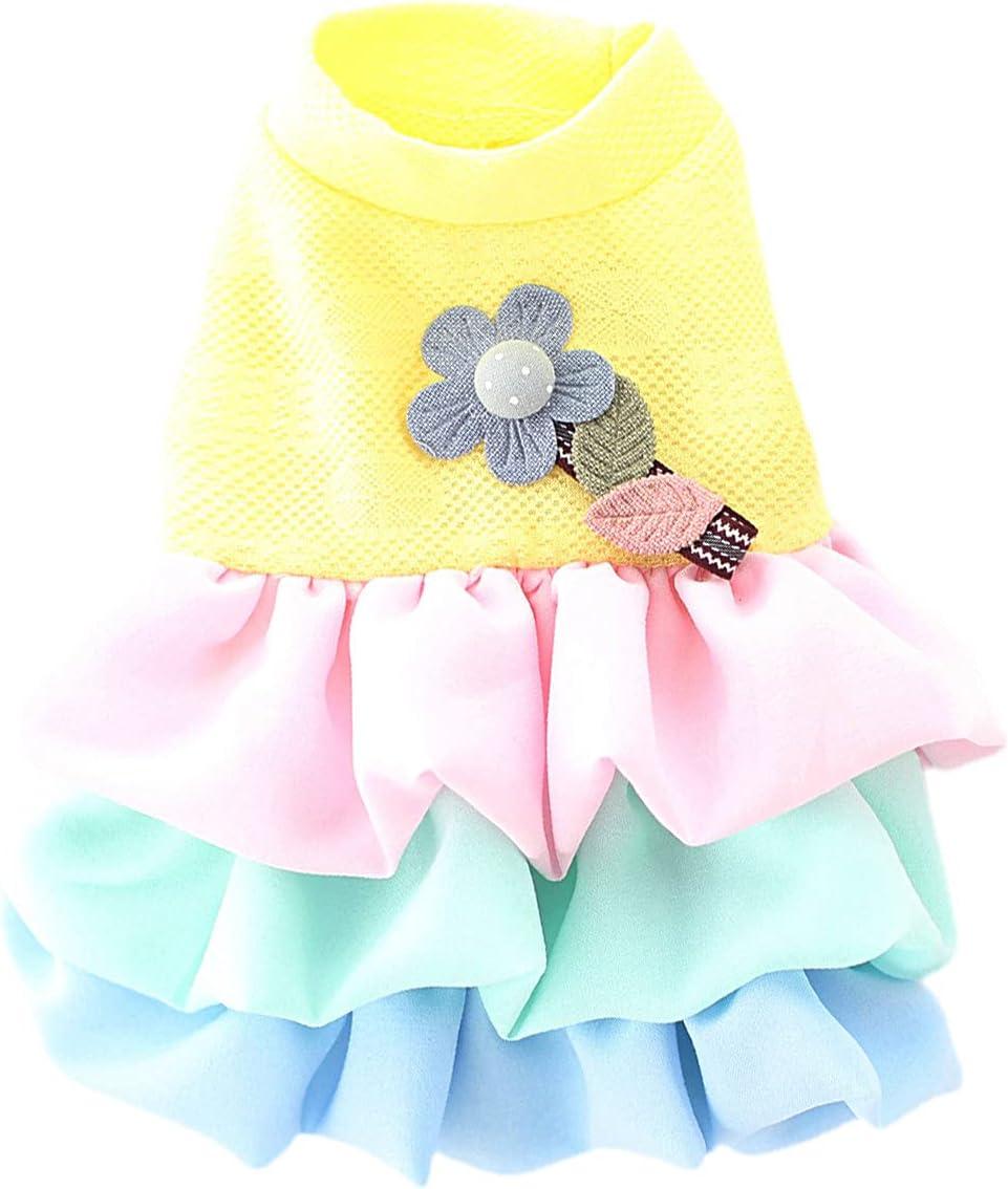 Max 72% OFF Philadelphia Mall Dog Vest Clothes Shirts Flower Pet De