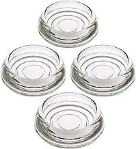 House of Antique Hardware R-08SE-0140002 Set of 4 Glass Furniture Caster Cups - 3