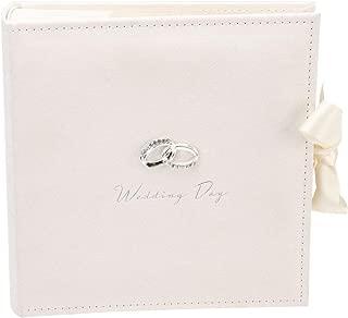 Haysom Interiors Gorgeous Ivory Suede Wedding Album Holding 100 7