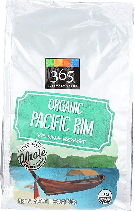 365 Everyday Value Organic Pacific Rim Vienna Roast Whole Bean Coffee 24 Oz